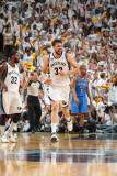 Oklahoma City Thunder v Memphis Grizzlies - Game Four, Memphis, TN - MAY 9: Marc Gasol Photographic Print by Joe Murphy