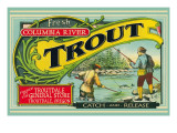 Troutdale, Oregon Trout Label Prints by  Lantern Press
