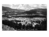 Dillon, Colorado - Panoramic View of Town from Lake Hill Print by  Lantern Press