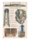 Alcatraz Island Technical - San Francisco, CA Art by  Lantern Press