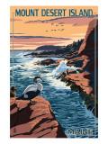 Acadia National Park, Maine - Mount Desert Island Kunstdrucke von  Lantern Press