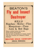 Beaton's Fly And Insect Destroyer Posters