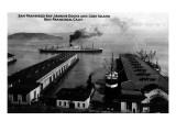 San Francisco, California - Bay Marine Docks, Goat Island View Art by  Lantern Press