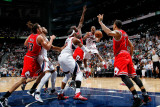 Chicago Bulls v Atlanta Hawks - Game Four, Atlanta, GA - MAY 8: Josh Smith and Jeff Teague Photographic Print by Kevin Cox