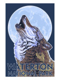 Waterton National Park, Canada - Wolf Howling Posters by  Lantern Press