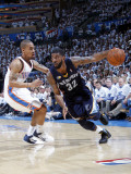 Memphis Grizzlies v Oklahoma City Thunder - Game Five, Oklahoma City, OK - MAY 11: O.J. Mayo and Er Photographic Print by Layne Murdoch