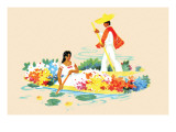 Mexican Flower Boats Posters