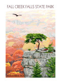 Fall Creek Falls State Park, Tennessee - Buzzards Roost Reproduction giclée Premium par  Lantern Press