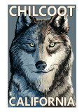 Chilcoot, California - Wolf Face Prints by  Lantern Press