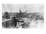View of a Ship in Canal Locks Prints