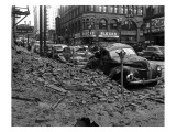Earthquake Damage in Pioneer Square - Seattle, WA Kunstdrucke von  Lantern Press