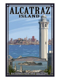 Alcatraz Island and City - San Francisco, CA Poster by  Lantern Press
