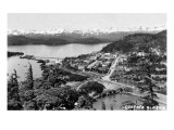 Cordova, Alaska - Aerial View of the Town Posters