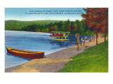 Adirondack Mountains, New York - Water Plane on Eighth Lake Affiches par  Lantern Press