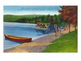 Adirondack Mountains, New York - Water Plane on Eighth Lake Prints