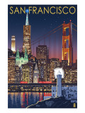 San Francisco, California Skyline at Night Print