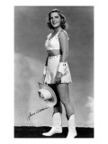 Cowgirl Portrait - Jean Arthur Art