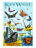 Butterfly Garden - Key West, Florida Posters af  Lantern Press