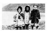 Alaska - Native Children in Parkas Posters by  Lantern Press