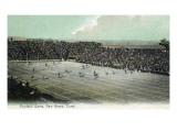 New Haven, Connecticut - Football Game at Yale Bowl Premium Giclée-tryk af  Lantern Press