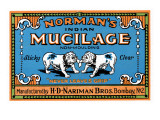 Norman's Indian Mucilage Julisteet