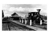 Fairbanks, Alaska - View of the Train Station Print