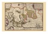 Netherlands, Map Zeeland Prints by Pieter Van der Keere