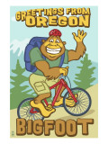 Bigfoot Bicyle in Oregon Prints by  Lantern Press