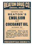 Beaton's Emulsion of Cocoanut Oil Posters