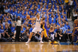 Los Angeles Lakers v Dallas Mavericks - Game Three, Dallas, TX - MAY 6: Dirk Nowitzki and Lamar Odo Photographic Print by Noah Graham