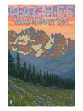 Naches, Washington - Spring Flowers Posters by  Lantern Press