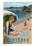 Monterey, California - Beach Scene Posters by  Lantern Press