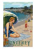 Monterey, California - Beach Scene Posters