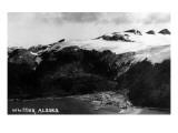 Whittier, Alaska - Aerial View of Town Poster von  Lantern Press