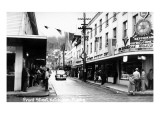 Ketchikan, Alaska - View of Front Street Print by  Lantern Press