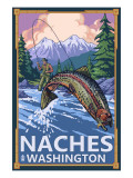 Naches, Washington - Fisherman Prints by  Lantern Press