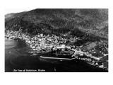 Ketchikan, Alaska - Aerial View of Town Posters