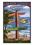 Boothbay Harbor, Maine - Sign Destinations Posters