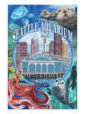 Seattle Aquarium - Seattle, WA Prints by  Lantern Press