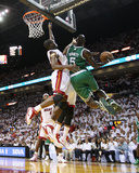 Boston Celtics v Miami Heat - Game Five, Miami, FL - MAY 11: Kevin Garnett and Joel Anthony Photographic Print by Mike Ehrmann