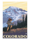 Colorado Mountain Hiker Posters