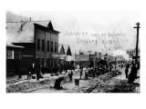 Skagway, Alaska - Laying Railroad Track on Broadway Posters by  Lantern Press
