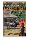 Lantern Press - Jackson Hole, Wyoming Stagecoach - Poster