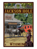 Jackson Hole, Wyoming Stagecoach Posters by  Lantern Press