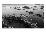 Sitka, Alaska - Aerial View of Town Posters
