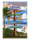 Beaufort, South Carolina - Sign Destinations Kunstdrucke von  Lantern Press