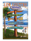 Beaufort, South Carolina - Sign Destinations Prints by  Lantern Press