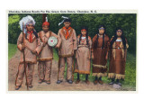 North Carolina - Cherokee Indians Ready for Green Corn Dance Posters by  Lantern Press