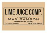 Lime Juice Comp. Prints