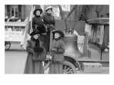 Suffragettes Sport a Replica of the Liberty Bell Poster